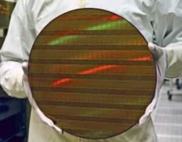 Wafel krzemowy 300 mm (z układami 45 nm)