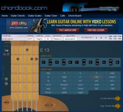 Dzięki wirtualnej gitarze na ChordBook.com, akordy i skale gitarowe nie będą miały przed tobą tajemnic.