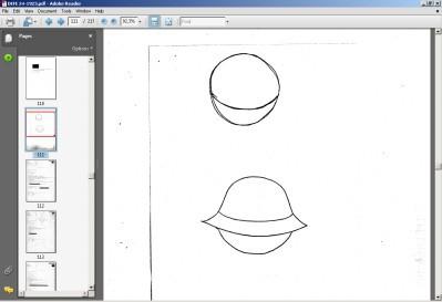 Rysunek UFO w jednym z raportów
