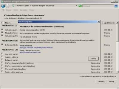 Aktualizacja KB940510 w systemie Windows Vista bez SP1