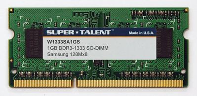 Super Talent 1GB DDR3-1333 SO-DIMM
