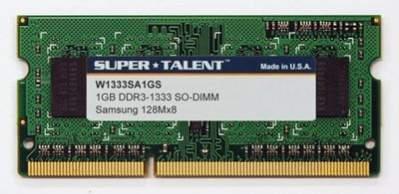 Super Talent 1GB DDR3-1333 SO-DIMM