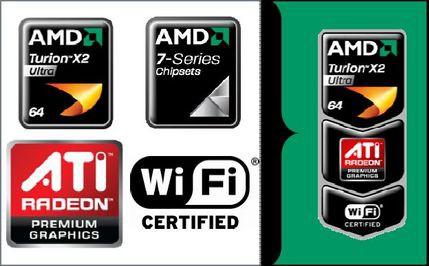 Podstawowe elementy składowe platformy AMD Puma - procesor Turion X2 Ultra, chipset, karty graficzne i kontroler WiFi