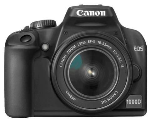 Canon EOS 1000D - widok z przodu