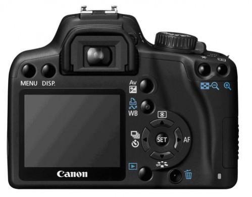 Canon EOS 1000D - tylna ścianka nowej lustrzanki Canona
