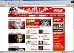 Witryna internetowego sklepu muzycznego MyCokeMusic
