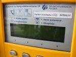 Żółty telefon TP SA - zbliżenie