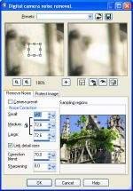 Funkcja usuwania szumów ze zdjęcia w PSP 9