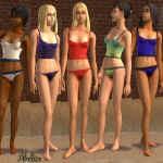 The Sims 2 - nastolatki w seksownych strojach